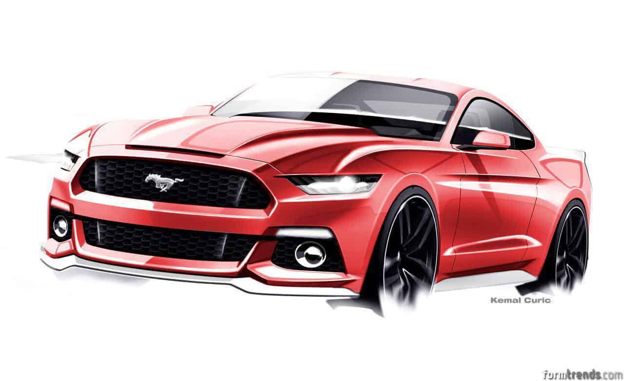 Sketch Of The The 2015 Ford Mustang By Exterior Design