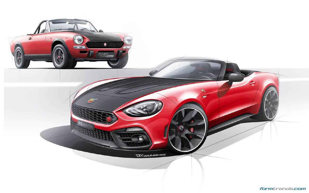 abarth 124 spider renderings by ruben wainberg. Black Bedroom Furniture Sets. Home Design Ideas
