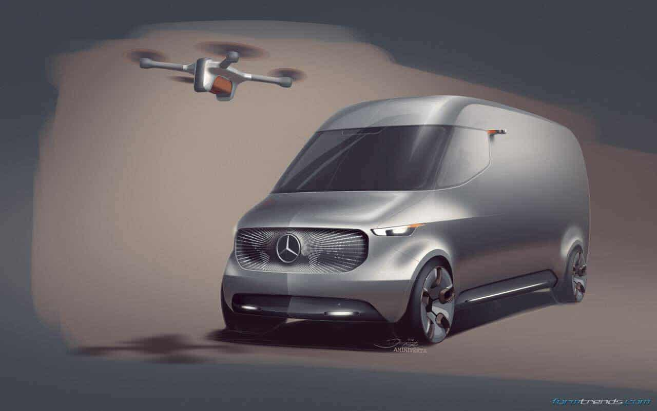 Mercedes benz vision van design sketches and renderings for Mercedes benz van