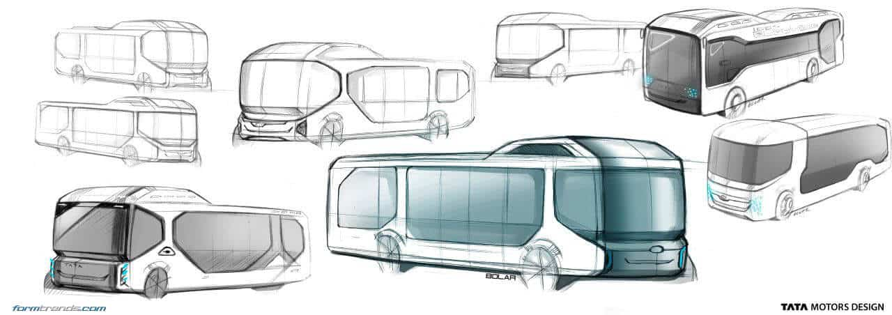 Tata ultra electric bus concept looks to future of public for Bus interior designs