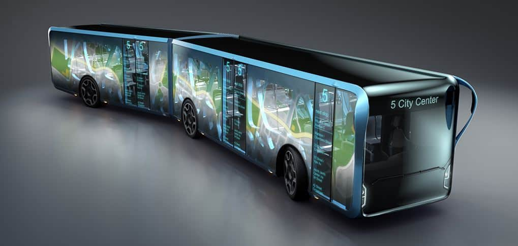 Bmw Full Form >> Designer Fashions Bus Cloaked in Transparent LCD Screens