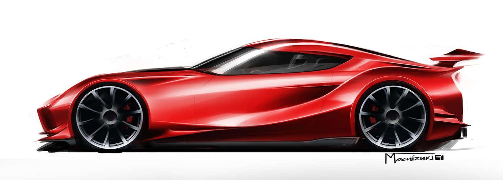 Beautiful Toyota FT 1 Concept Sketch By Bob Mochizuki