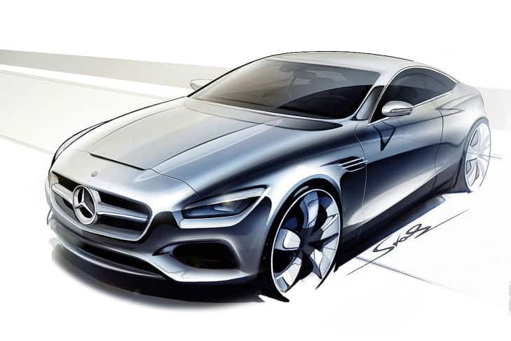 Sketches mercedes benz s class coupe concept for Mercedes benz career