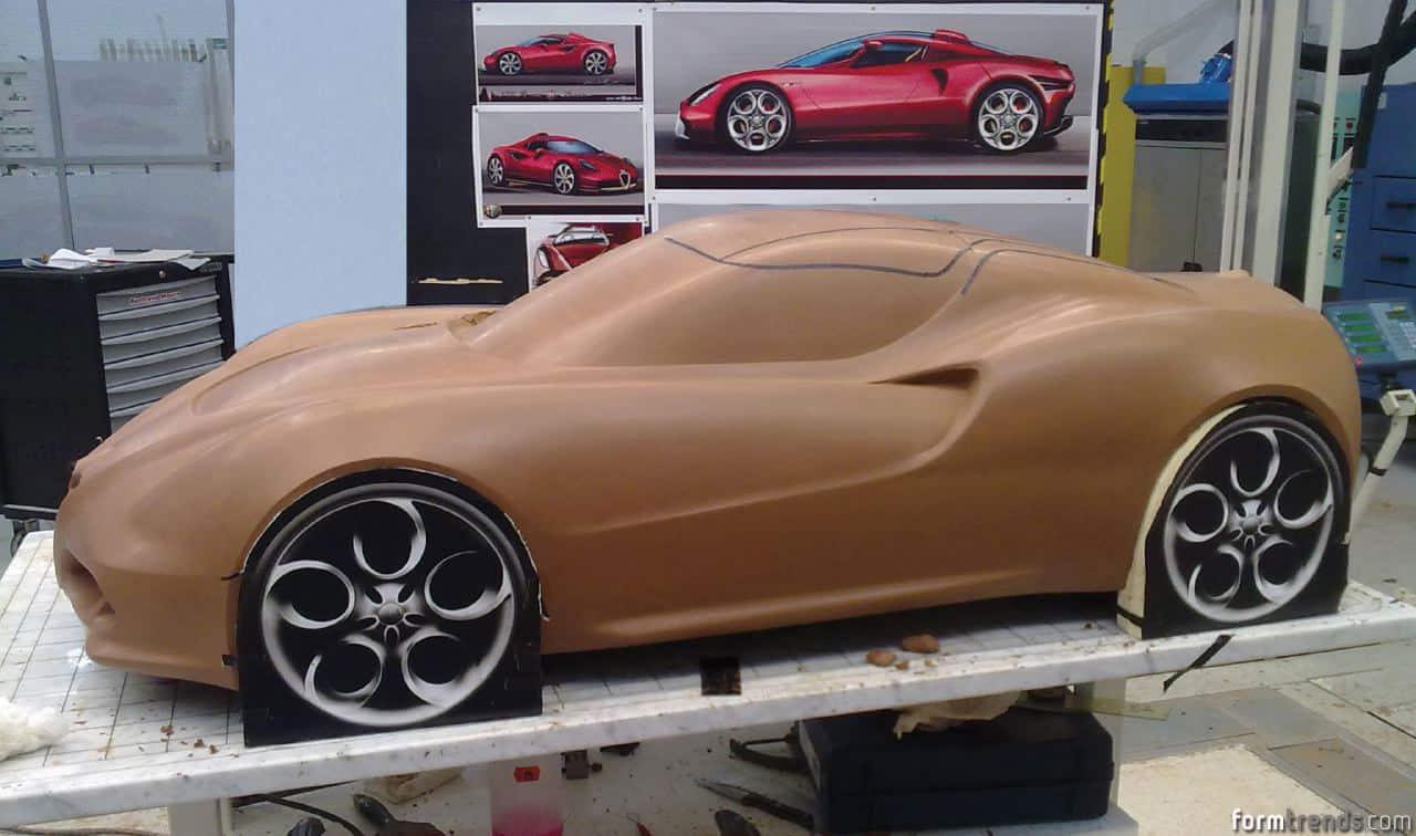Design of car model - Alfa Romeo 4c Clay Model