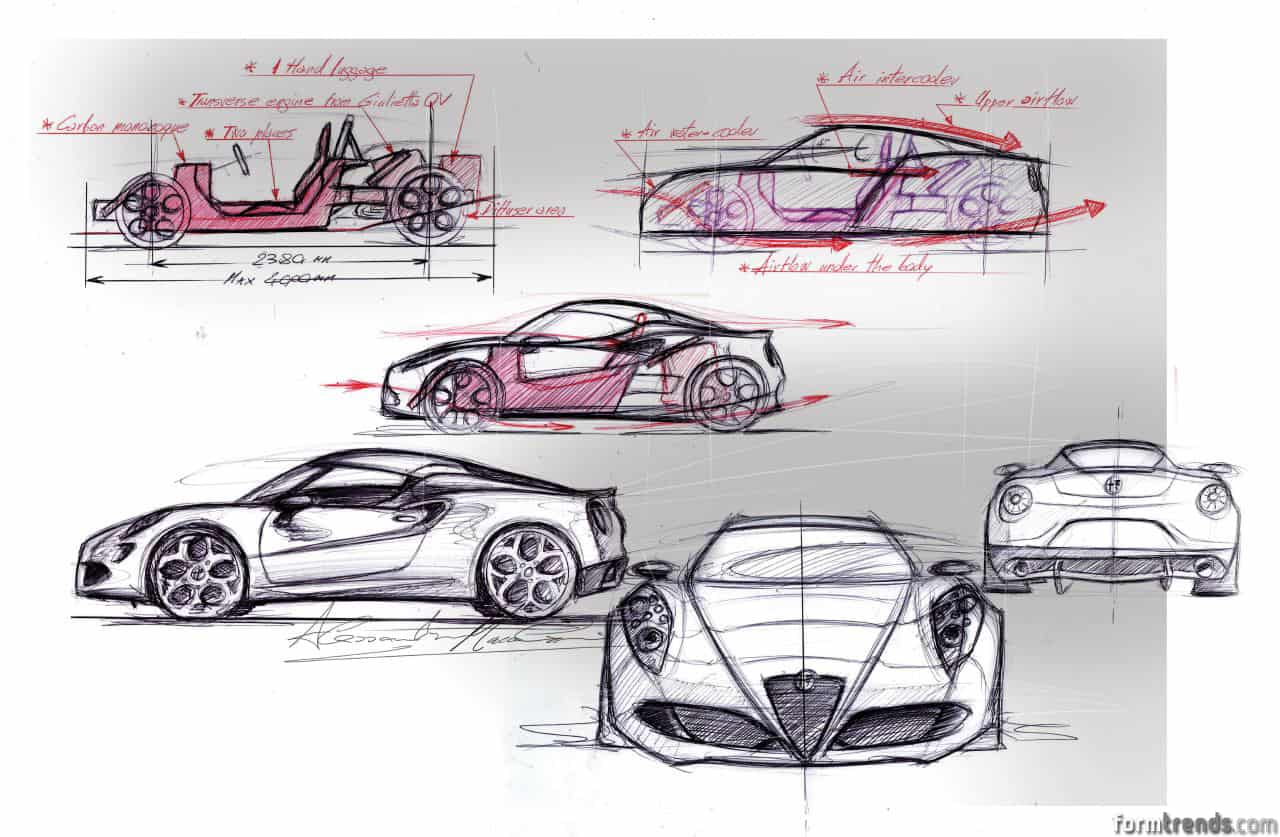 Design Story Diving Into The Creation Of The Alfa Romeo 4c