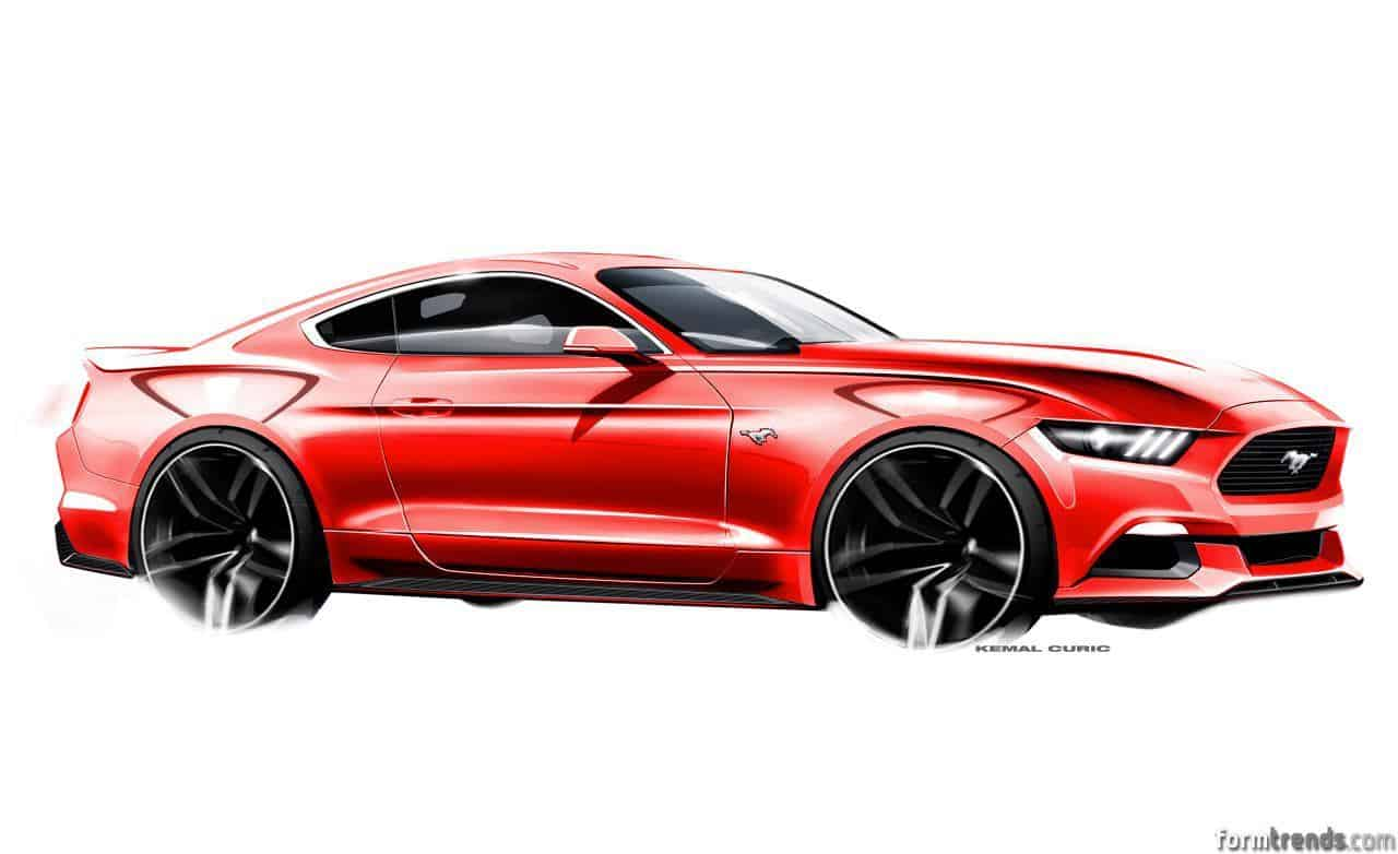 Meet the designers 2015 ford mustang for Coupe architecture