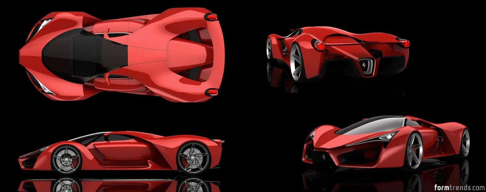 Ferrari F80 Concept Rendering By Adriano Raeli. Ferrari F80 Concept  Rendering By Adriano Raeli