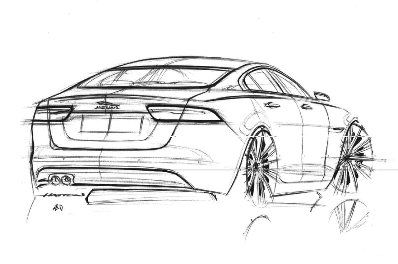 Jaguar revisits compact segment with xe for Window design sketch