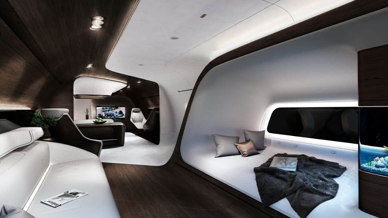 Mercedes Benz Style Designs Luxurious Aircraft Cabin For