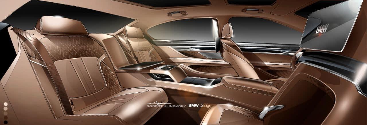 BMW 7 Series Interior Rendering By Robert Hlinovsky