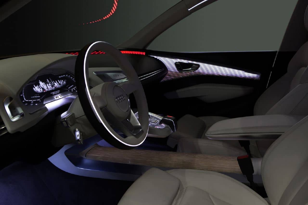 Audi to show new oled lighting concept car in frankfurt for Interieur accessoires