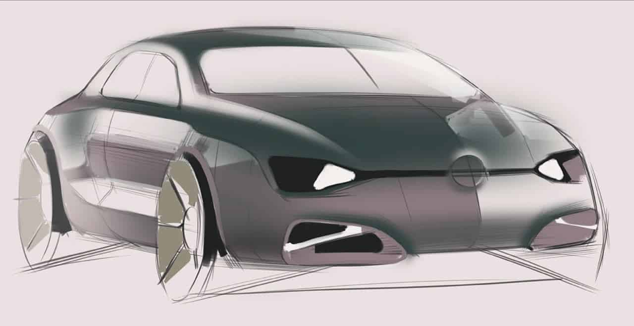 Basic design of a car - Sketch Emphasis On The Basic Form