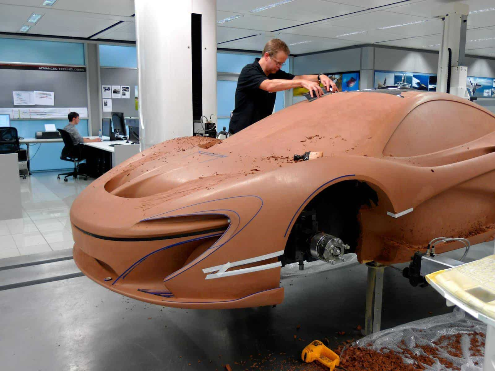 A McLaren P1 made out of clay!