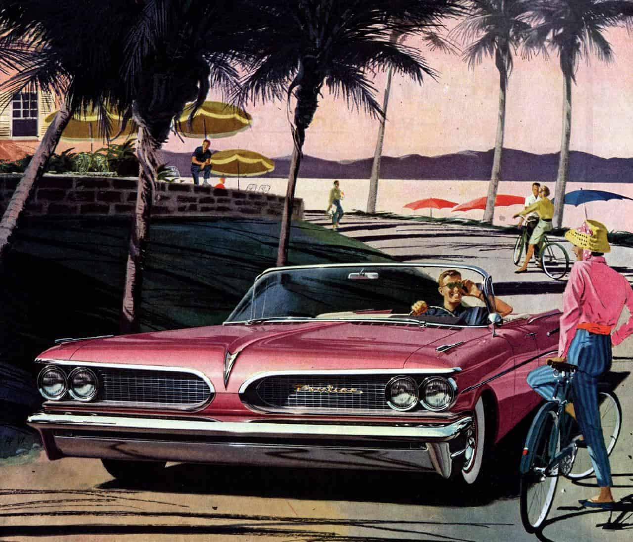 Classic Car Ad Posters