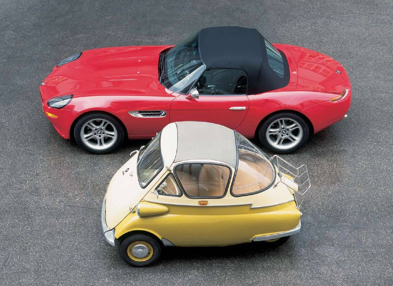 BMW Isetta (1955) With BMW Z8 (1999)