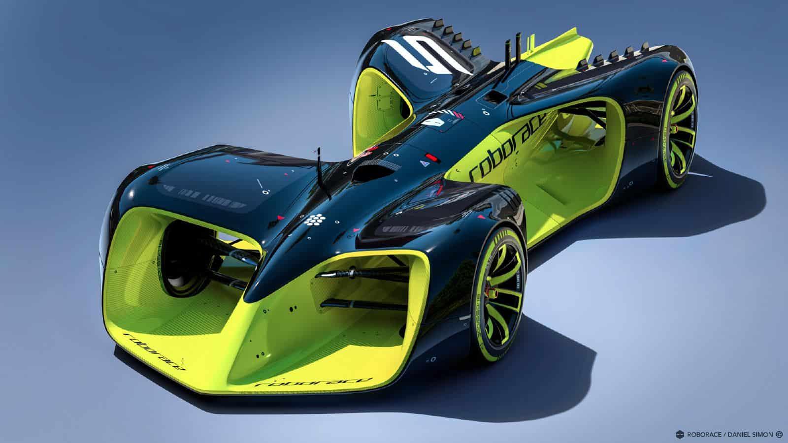 daniel simon 39 s autonomous roborace car. Black Bedroom Furniture Sets. Home Design Ideas