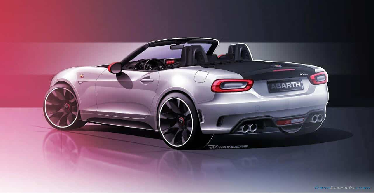Abarth 124 Spider Renderings By Ruben Wainberg