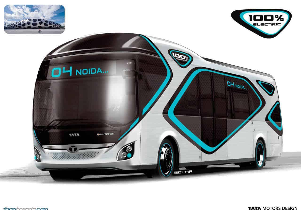 Tata ultra electric bus concept looks to future of public for Bus interior designs