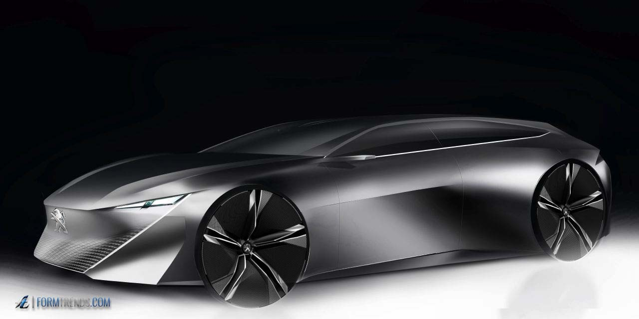 peugeot instinct concept  autonomous car  driving enthusiasts