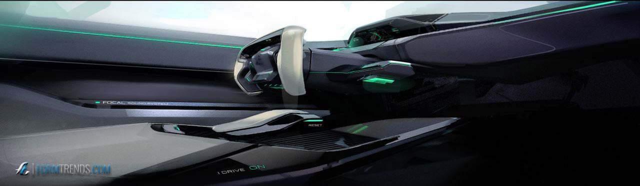 peugeot instinct concept an autonomous car for driving enthusiasts. Black Bedroom Furniture Sets. Home Design Ideas
