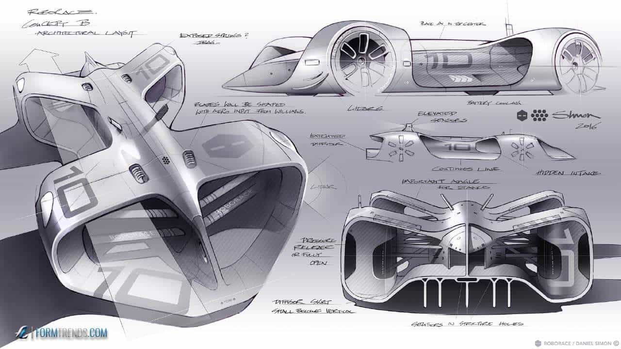daniel simon designs robocar world s first driverless racing car. Black Bedroom Furniture Sets. Home Design Ideas