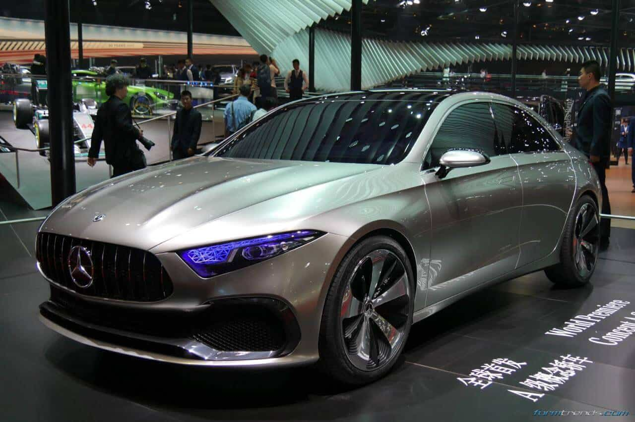 mercedes benz concept a sedan previews production model due in 2018. Black Bedroom Furniture Sets. Home Design Ideas
