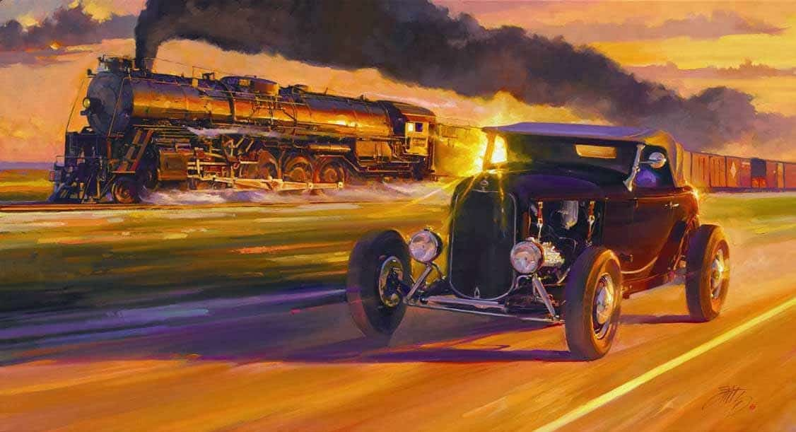 A Look Into The Brilliance Of Tom Fritz S Automotive Art